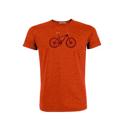 Foto van Green Bomb | T-shirt oranje Bike Cross bio katoen