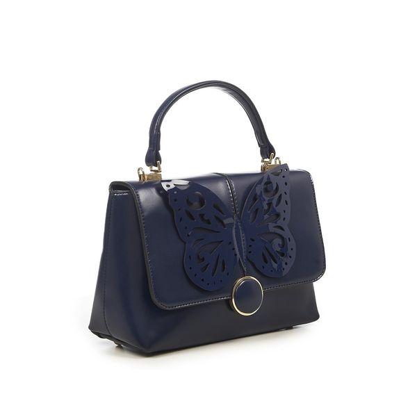 Handtas retro vintage Papilio, donkerblauw