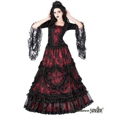 Foto van Rok Aleister, zwart rood gedrapeerd kant gedecoreerd met satijnen rozen