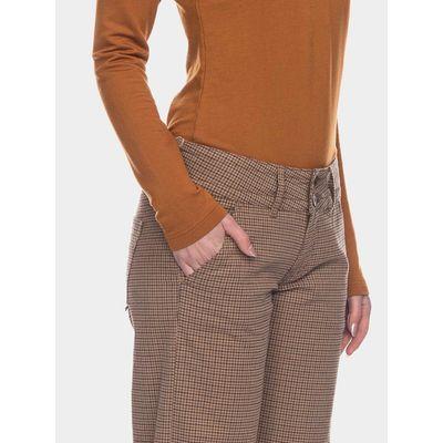 Foto van ATO Berlin, pantalon Lilia, bruin beige geruit