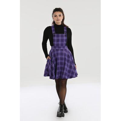 Foto van Hell Bunny | Pinafore jurk Kennedy met paars tartan motief