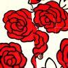 Afbeelding van Chenaski | Overhemd korte mouw, Outlined Rozen creme, rood