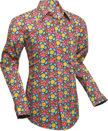 Chenaski | overhemd Seventies Flowergrid, pink