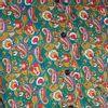 Afbeelding van Chenaski   overhemd seventies, Paisley en bloemen groen