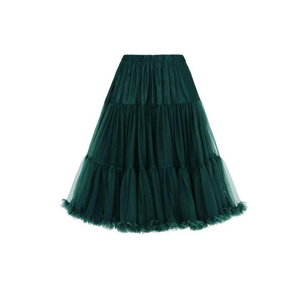 Petticoat Lifeforms Kuitlang met extra volume, bottle green