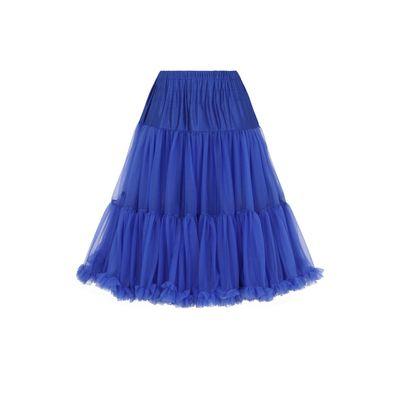 Petticoat Starlite over de knie met extra volume, royal blue