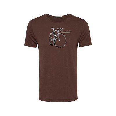 Foto van Green Bomb | T-shirt Hills do them dark chocolate bio katoen