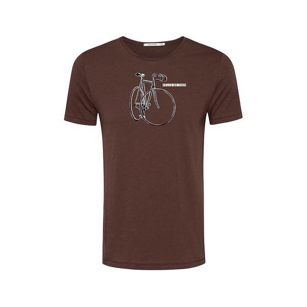Green Bomb   T-shirt Hills do them dark chocolate bio katoen