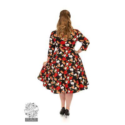 Foto van Hearts & Roses | Swingjurk Delia met driekwart mouw queensize