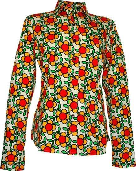 Chenaski   dames blouse Flowergrid, creme