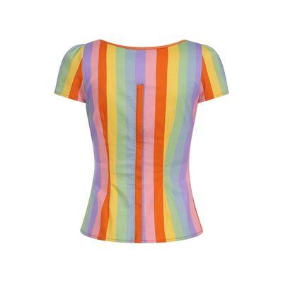 Foto van Collectif | Top Mimi vintage rainbow pastel