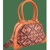 Afbeelding van Handtas bowlingbag model, Rhombus brown