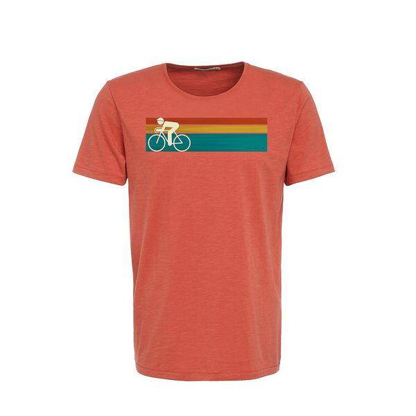 Green Bomb   T-shirt Bike Speed, bio katoen, sun red