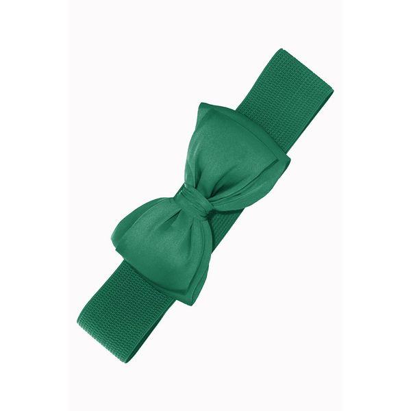 Elastiekriem Bella, met strik, green