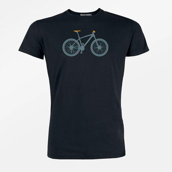Green Bomb | T-shirt zwart Mountain Bike bio katoen