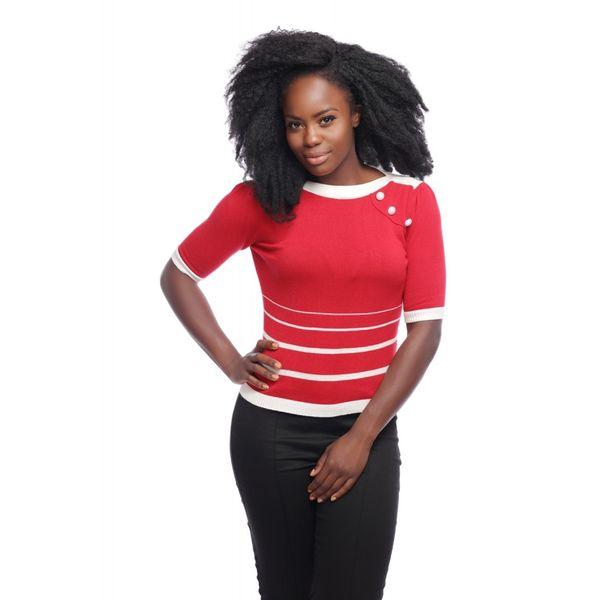 Collectif | Rood wit gestreepte jumper Armanda