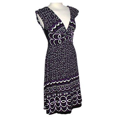 Chenaski | 70's jurk, dots black purple