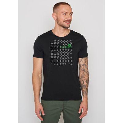Foto van Green Bomb | T-shirt Bike Rings, zwart bio katoen