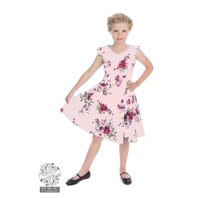 Foto van Kinderjurk, Royal ballet roze met bloemen