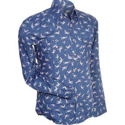 Chenaski | Overhemd Cowboy, Crane, blauw