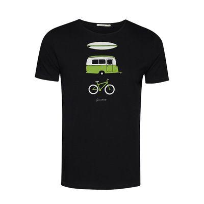 Foto van Green Bomb | T-shirt Nature Fun, zwart bio katoen