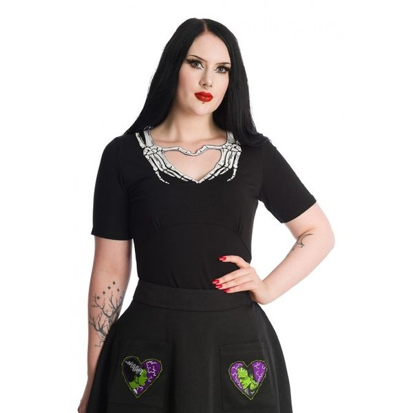 Banned | Skeleon Heart gothic top