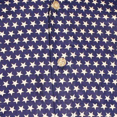 Foto van Chenaski   Blauw wit seventies overhemd Stars