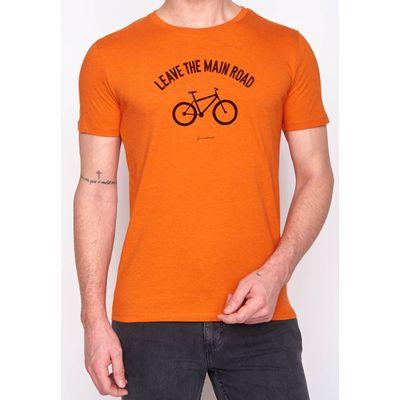 Foto van Green Bomb | Bio T-shirt leave the road, heather orange