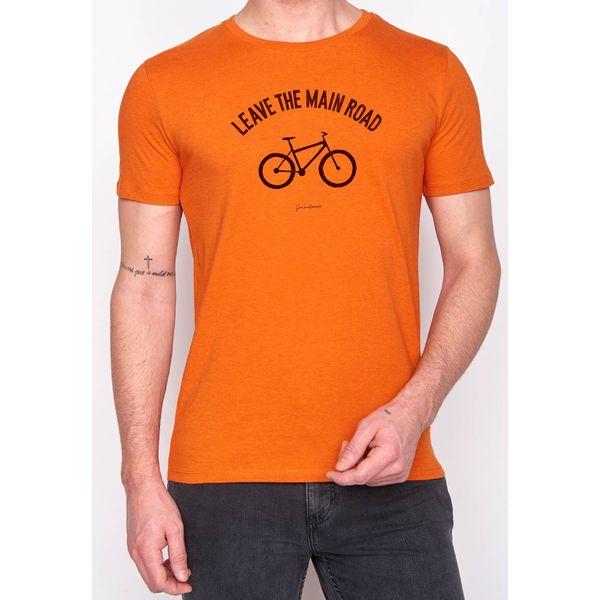 Green Bomb | Bio T-shirt leave the road, heather orange