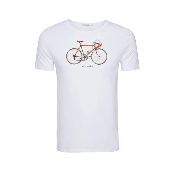 Green Bomb | T-shirt Bike 51, wit bio katoen