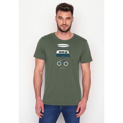Foto van Green Bomb   T-shirt Nature Fun, bio katoen olive