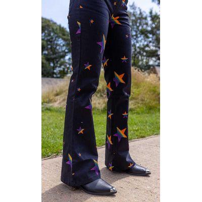 Foto van Run & Fly | Tuinbroek Spectrum Star stretch met uitlopende pijpen