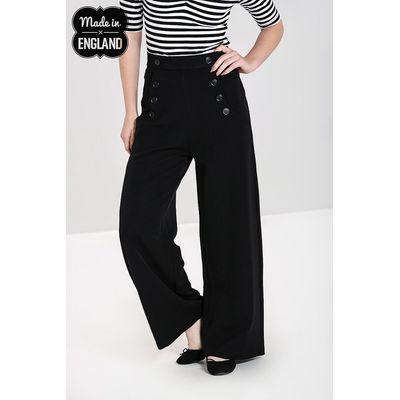 Foto van Hell Bunny | High waisted swing broek Carlie zwart