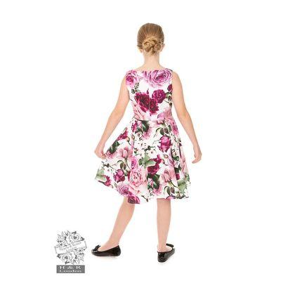 Foto van Hearts & Roses | kinderjurk Alice met roze bloemen