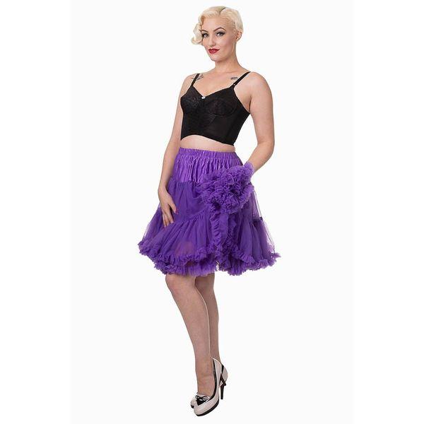 Petticoat Walkabout Knielang met extra volume, paars