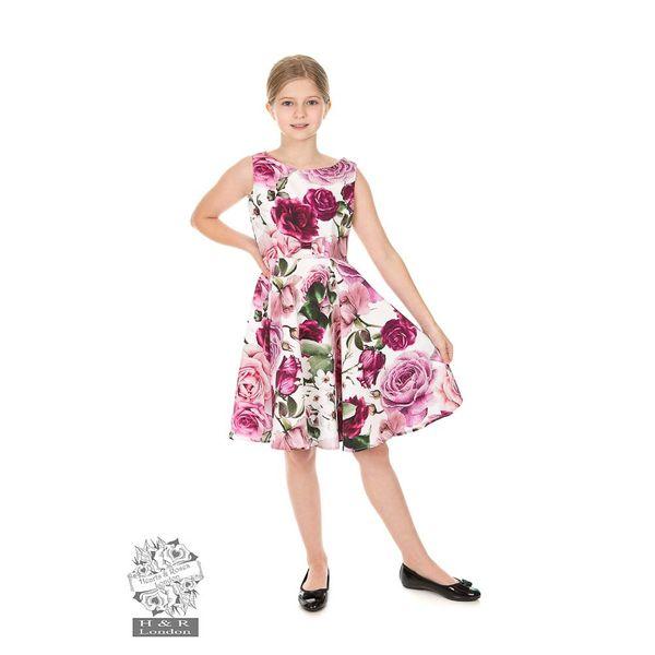 Hearts & Roses | kinderjurk Alice met roze bloemen