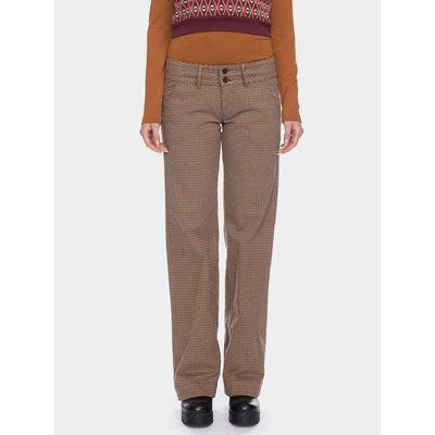 ATO Berlin, pantalon Lilia, bruin beige geruit