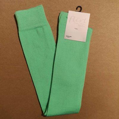 Flirt | Overknee sokken neongroen