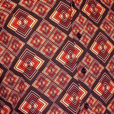 Foto van Chenaski | overhemd seventies, Rhombus donker bruin