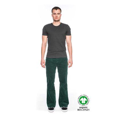 Foto van ATO Berlin - Ribcord broek Newton, met uitlopende pijp, donkergroen
