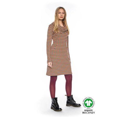 Foto van ATO Berlin   Kleurrijke warme jurk Halbmond met losse col