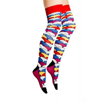 Flirt | Overknee sokken met gekleurde schubben