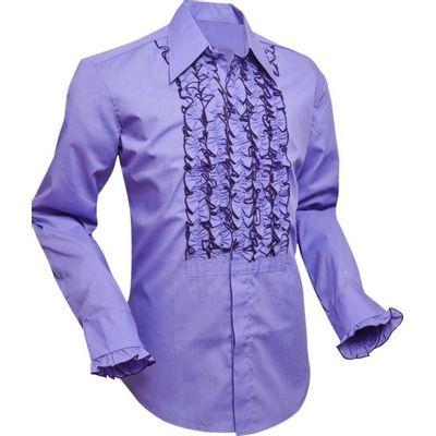 Foto van Chenaski | Overhemd ruche, purple met dark lilac trim