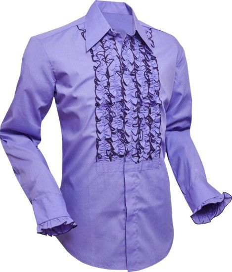 Chenaski | Overhemd ruche, purple met dark lilac trim