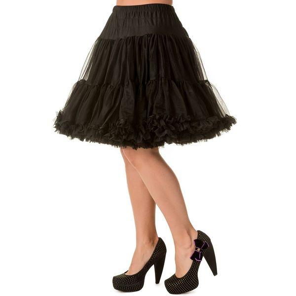 Petticoat Walkabout Knielang met extra volume, zwart