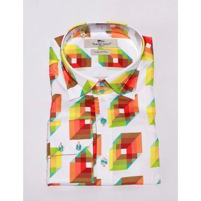 Foto van Overhemd 3D print, wit