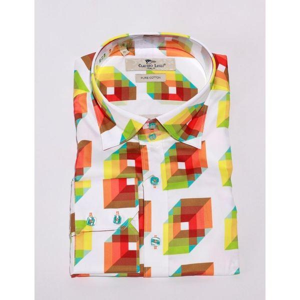 Overhemd 3D print, wit