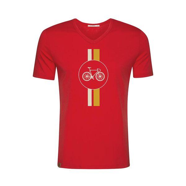 Green Bomb | T-shirt Bike Highway, bio katoen Tango red