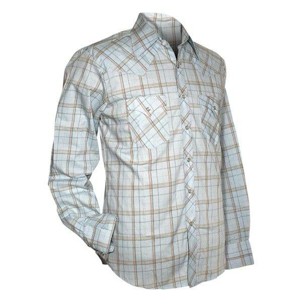 Chenaski, cowboy overhemd checked light blue