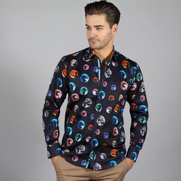 Claudio Lugli, overhemd met lange mouw, Moon lovers